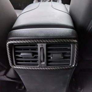 Back air vent carbon fiber trim